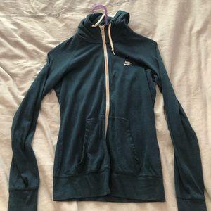 Blue nike thin jacket, size small